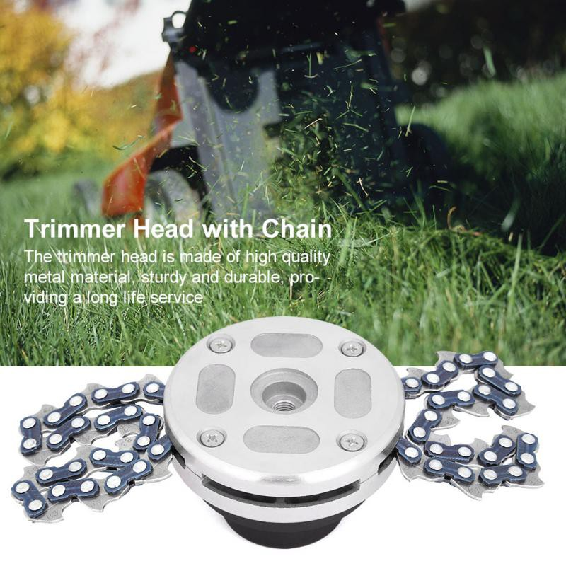 Grass Trimmer New Multifunction Durable Chain Grass Trimmer Head Brushcutter Lawn Mower Accessories Garden Tools For M10 X 1.25lh Gear Box Buy One Give One Garden Tools