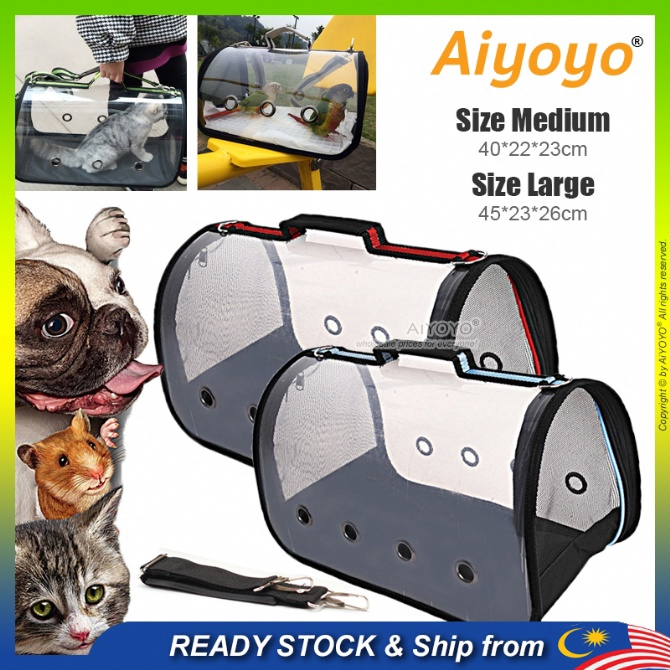 Transparent Pet Carrier Bag Pet Bag Cat Carrier Dog Carrier Kucing Parrot Cage Bird Purses Carry Kitten Puppy Pets Outdo