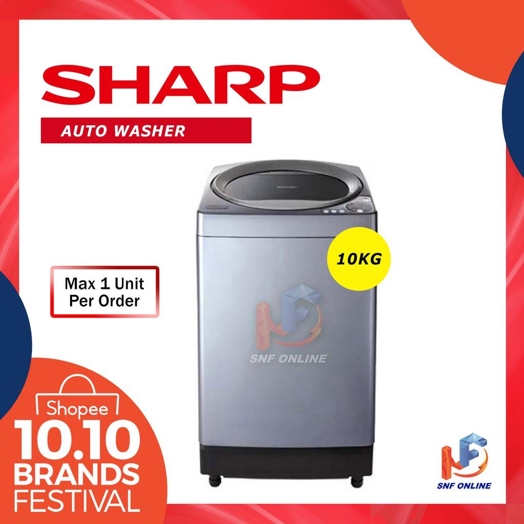 Sharp 10kg Auto Washer No Hole Tub Series ESU-106H ESU106H
