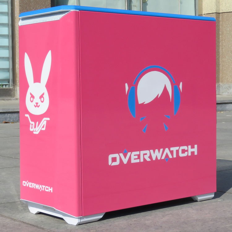 Overwatch Pink ATX computer casing gaming case