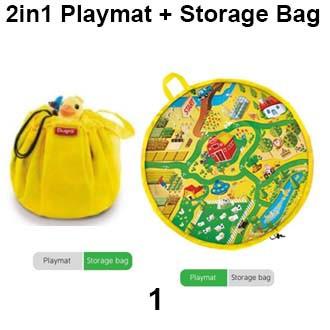 2in1 Playmat + Storage Beg / Bag