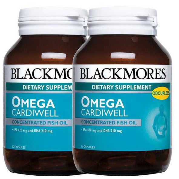 Blackmores Omega Cardiwell 60\'s /2x60\'s ( Fish oil / Minyak ikan)-BUBBLE WRAP