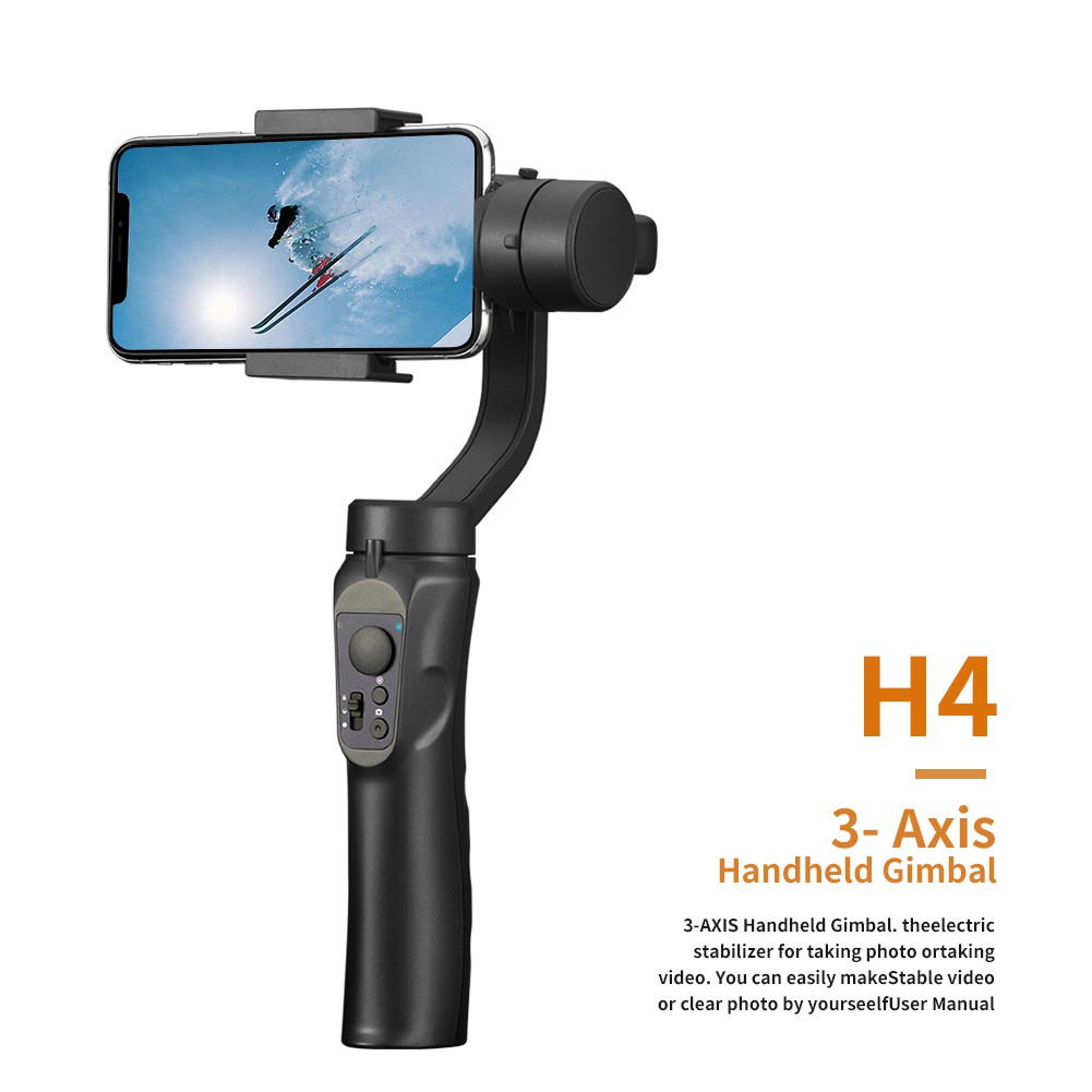 FUNSNAP Capture 2 3-Axis Handheld Stabilizing Smartphone Gimbal Mobile Cell Phone Handheld Gimbal Stabilizer YouTube Video Vlog Live Video for iPhone 11 Pro Xs Max Xr X 8 Plus 7 6 Android Smartphone