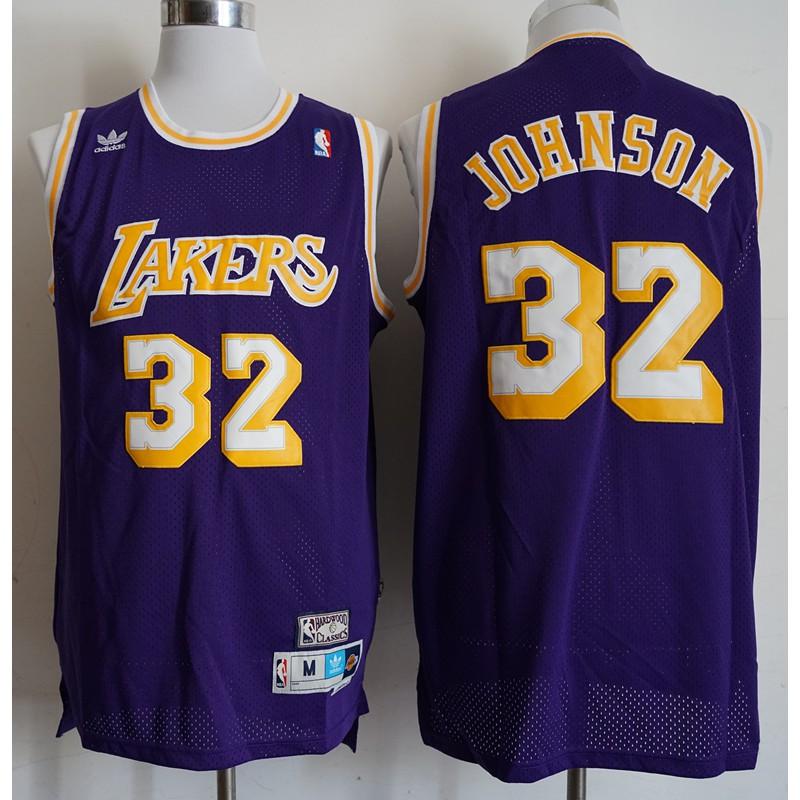 New Men/'s Los Angeles Lakers #32 Earvin Johnson Basketball Jerseys