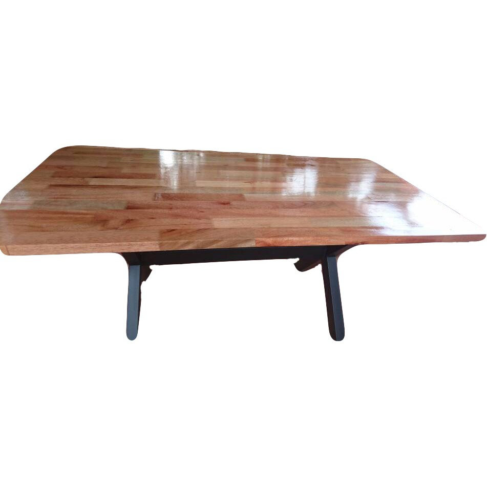 Dining Meeting Table With Meranti Wood Brown 7ft X 3ft X 2 5ft Shopee Malaysia