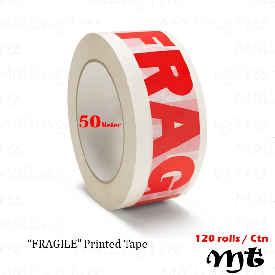 1 x FRAGILE packing print parcel tape rolls 48mm x 66M