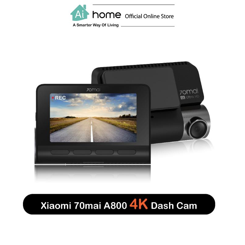 70 Mai A800 Dual Dash Cam with 1 Year Malaysia Warranty [ Ai Home ]