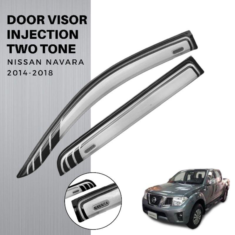 Nissan Navara 2014 2018 Door Visor Injection Two Tone