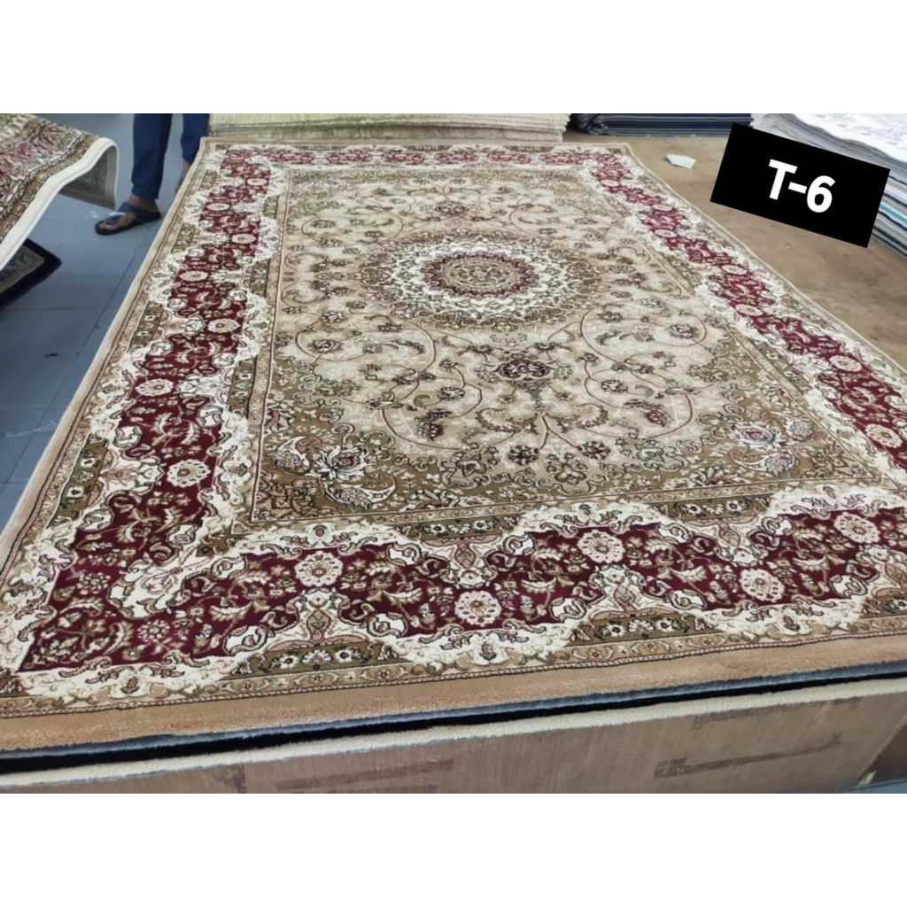 [Highest Quality] ISFAHAN CARPET 1.5 Juta Utas Made from Turkey [ Ready Stock ] for Home Decoration