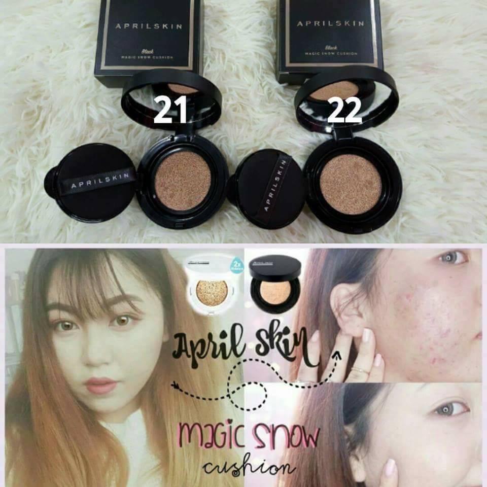 April Skin Magic Snow Cushion Black 20 15g Shopee Malaysia Versi