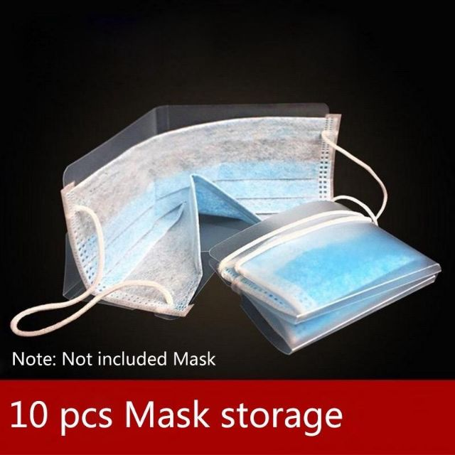 5/10pcs Dust proof Mask Folder Container Fordable Disposable Windproof Face Masks Safe Pollution