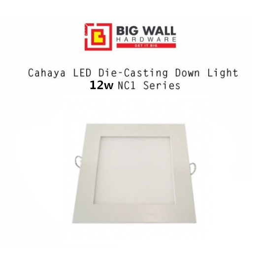 Cahaya LED Die-Casting Downlight 12/18W NC1 Square / Round 3000k 4000k 6500k  Isolated Driver Big Wall Hardware