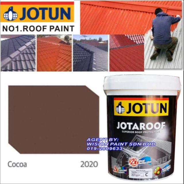 Jotun 2020 Cocoa 15l Jotaroof Roof Protection Finish Shopee Malaysia