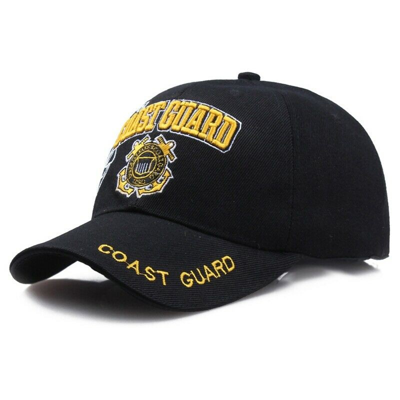 1ce307d927 USA MILITARY CAP U.S. COAST GUARD HAT Black Baseball Cap for Men Women