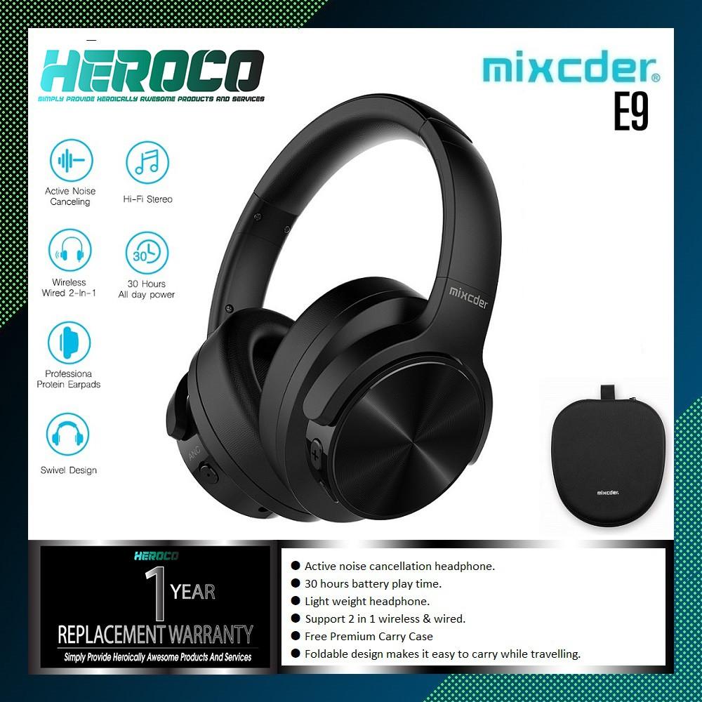498005a881b MIXCDER E9 Active Noise Cancelling Lightweight Bluetooth Wireless Headphone  | Shopee Malaysia