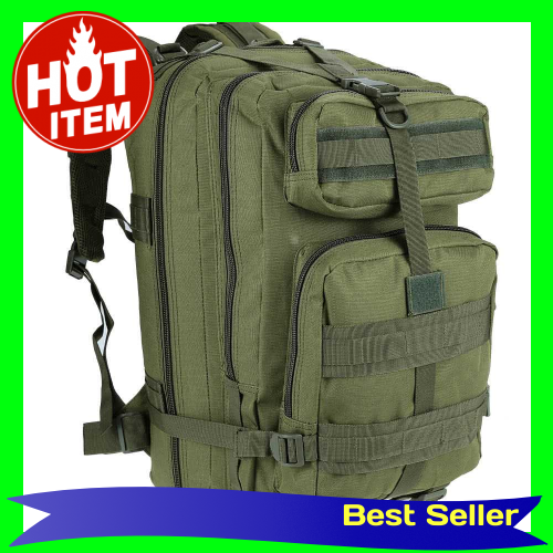 45L MOLLE Multifunction Military Rucksack Outdoor Tactical Backpack Travel Camping Hiking Sports Bag (Dark Green)
