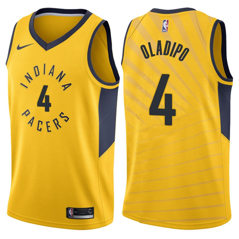 huge discount f3556 c7a82 Ready stock 2018 Hot Sale Nike NBA Indiana Pacers Victor Oladipo #4 yellow  basketball jersey S-XXL