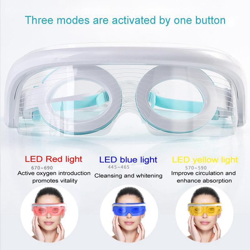 Smart Led Phototherapy Heating Eye Massage Eye Mask To
