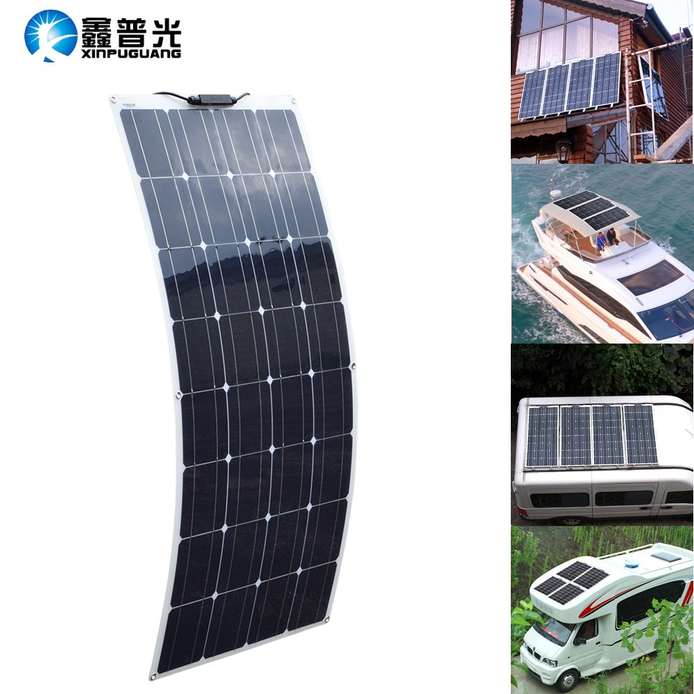 200w 16V Flexible Solar Panel 2x100w Mono for Car Boat RV Home 12V Power Charger