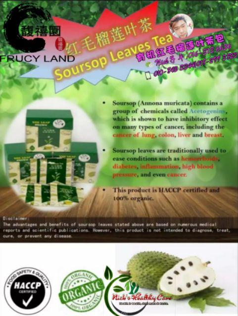 Soursop Leaves Tea Teh Daun Sirsak Shopee Malaysia
