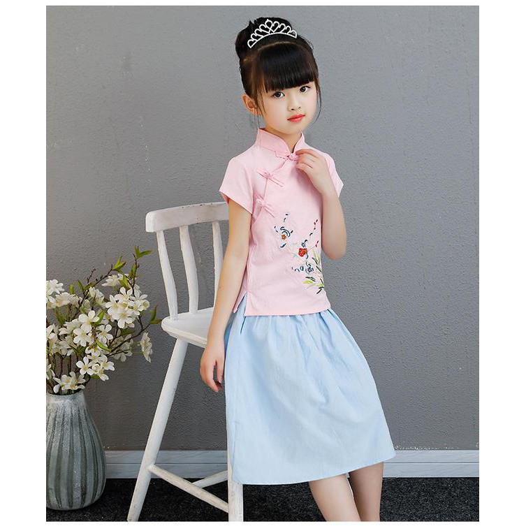 Mylilangelz KC2472 Girl 2 Piece Set - Spring Blooming (READY STOCK)