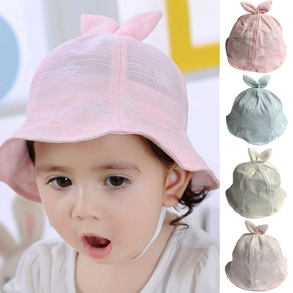 Girls Baby Kids Children Cute Pink Minnie Mouse 100/% Cotton Bucket Cap Sun Hat