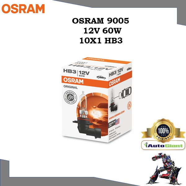 OSRAM 9005 - 12V 60W (HB3) LAMPU DEPAN KERETA