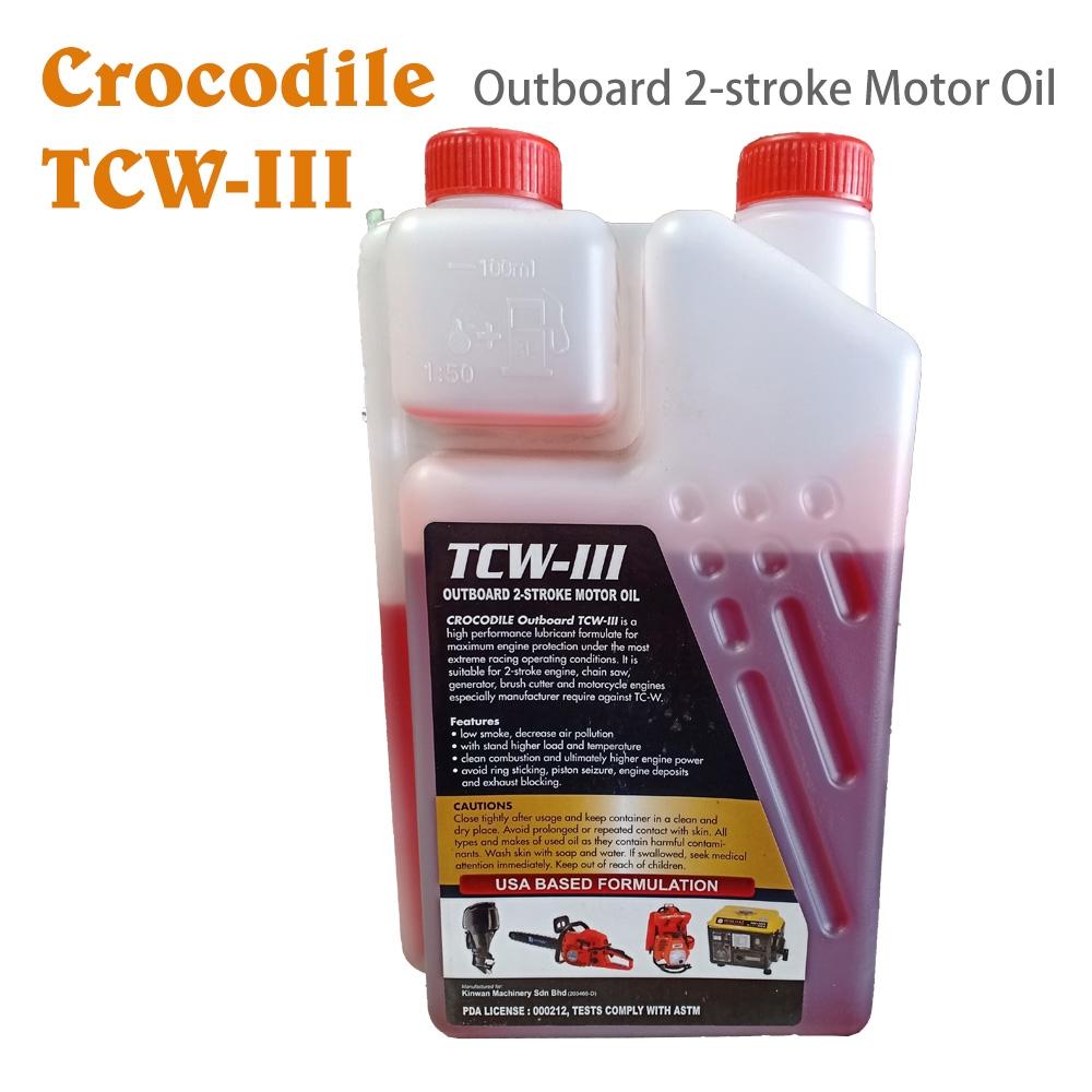 CROCODILE TCW-3 OUTBOARD 2-STROKE MOTOR OIL crocodile tcw-3 outboard 2 stroke motor oil 100% original 2t mesin rumput