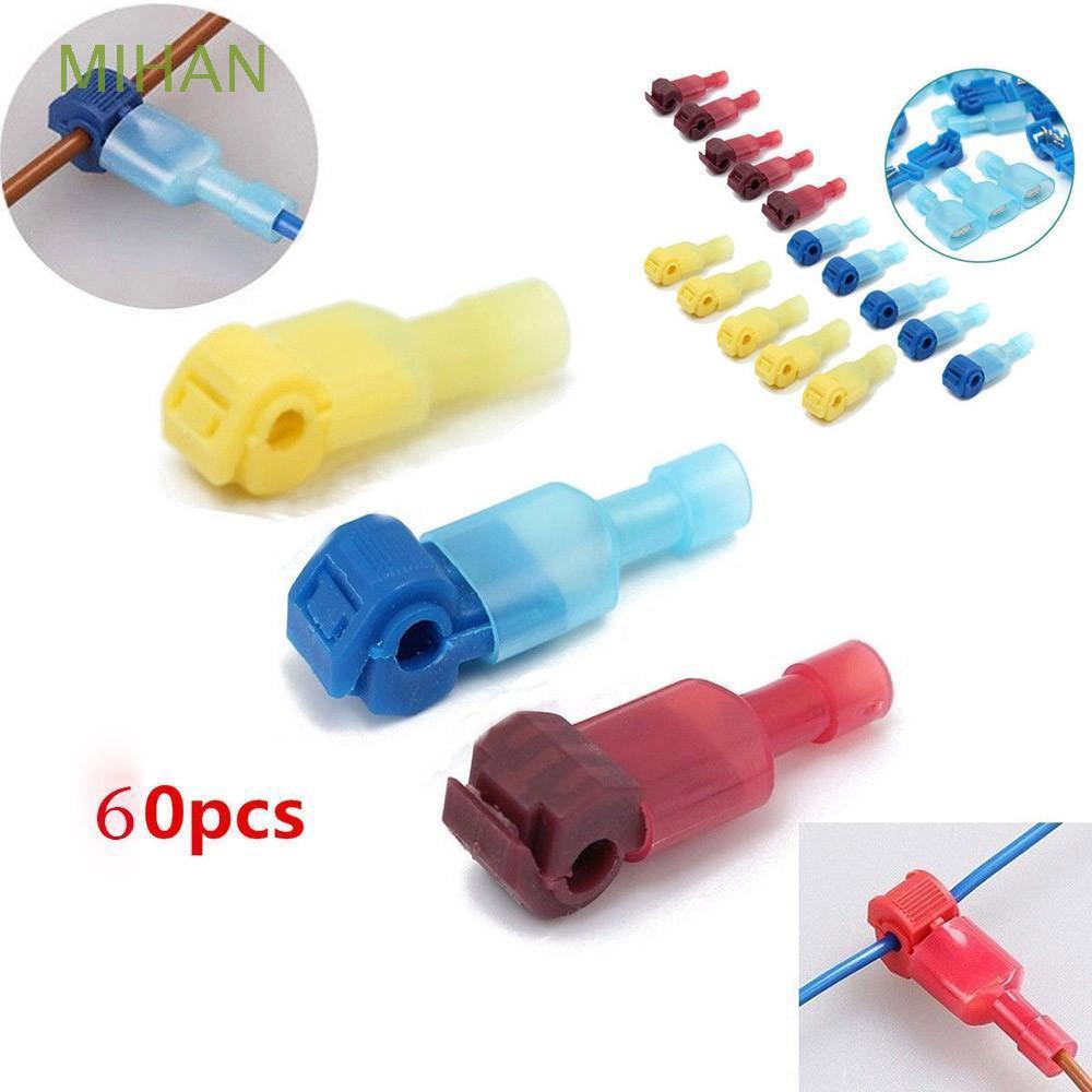 60pcs/set Set Kit Quick Splice Wire Cable Spade Crimp Set Connectors  Terminals