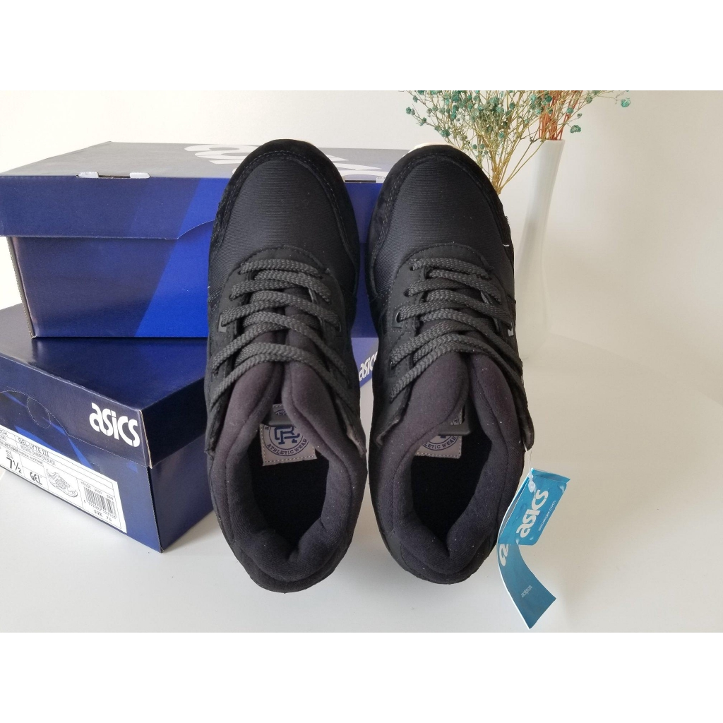 detailed look 2e632 a8d5a Ashers /Asics Gel Lyte III H6X3L-9090 inked black samurai shoe store please  come in.