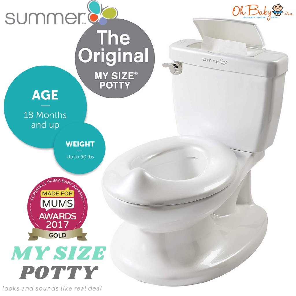 Infant My Size Toilet Potty White Baby Toddler Child Training Aid Nappies