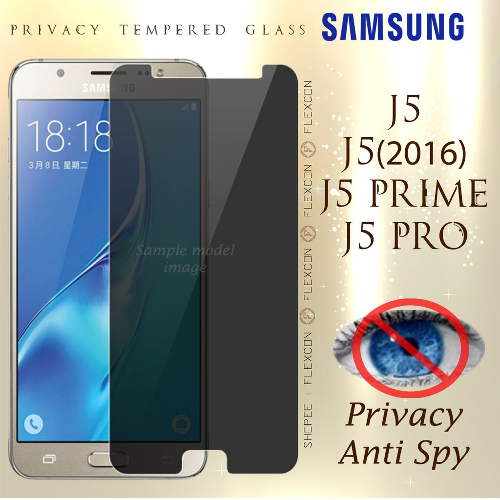 Samsung Galaxy J2 Prime J2pro2018 J32016 Privacy Tempered Glass Full Cover J5 Pro Screen Protector Shopee Malaysia