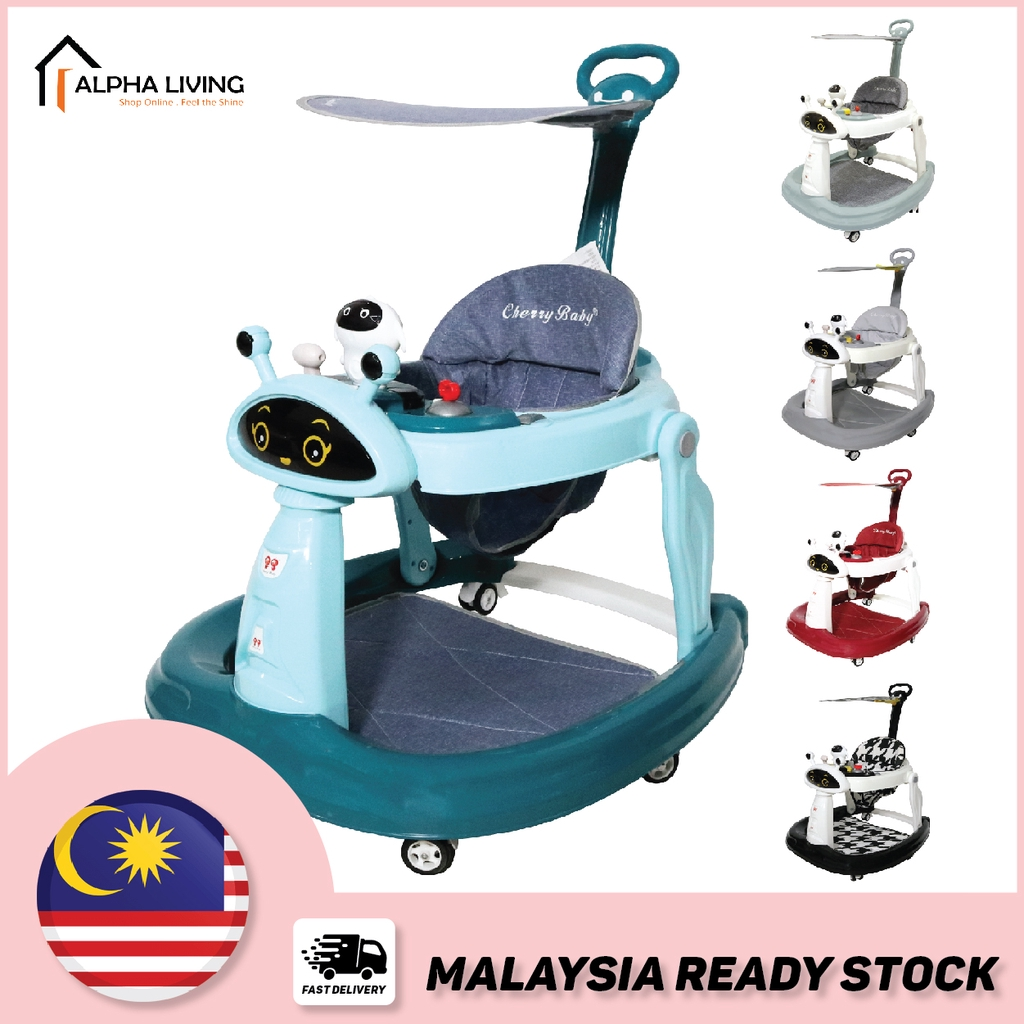 Ready stock Cutie Robot Baby Walker with Lighting and Music Sound (BAY0083)