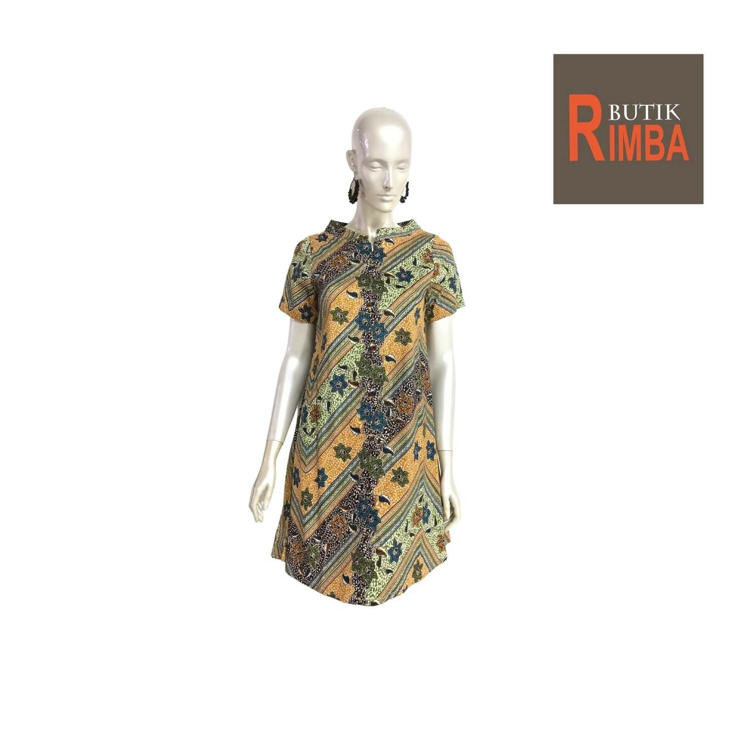 MODERN DRESS BATIK COTTON STRETCHABLE KNEE LENGTH FREE SIZE FOR FASHIONABLE WOMEN IN MIND 02