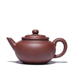 China handmade yixing zisha Purple clay heijinsha xishi peony teapot 210cc