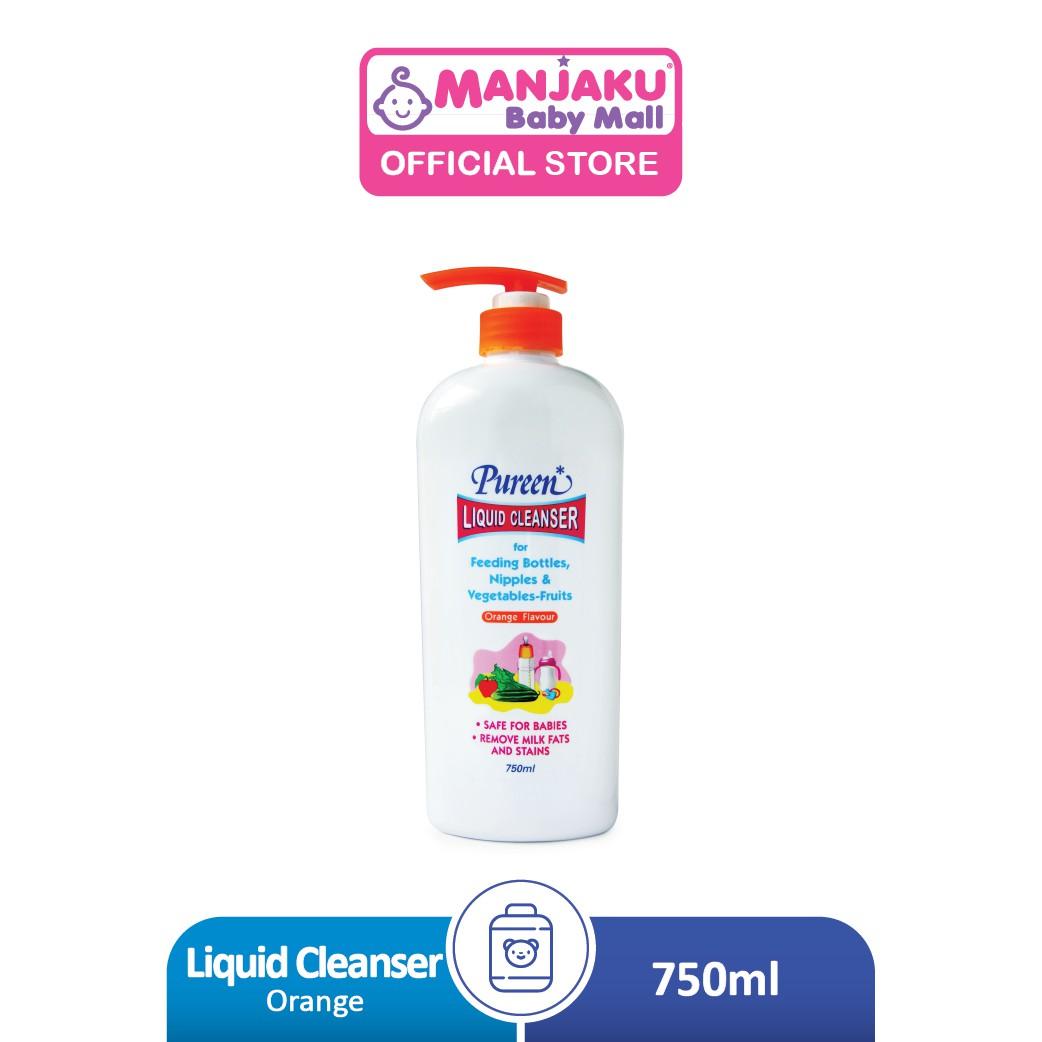 Pureen Liquid Cleanser (750ml) - Orange/Mint/No Flavor