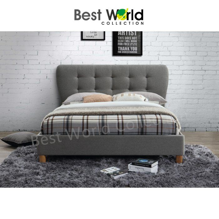 Best Hadley Fabric King Size Bed Frame