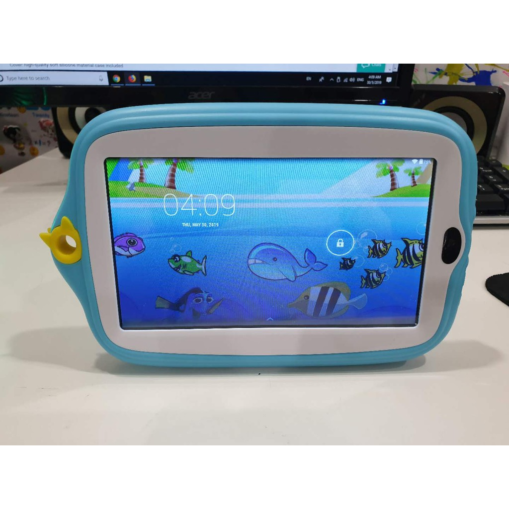 Baby Tab 7 0 Android Wifi Tablet Phone / Kid-proof Silicone Case / Dual  Camera