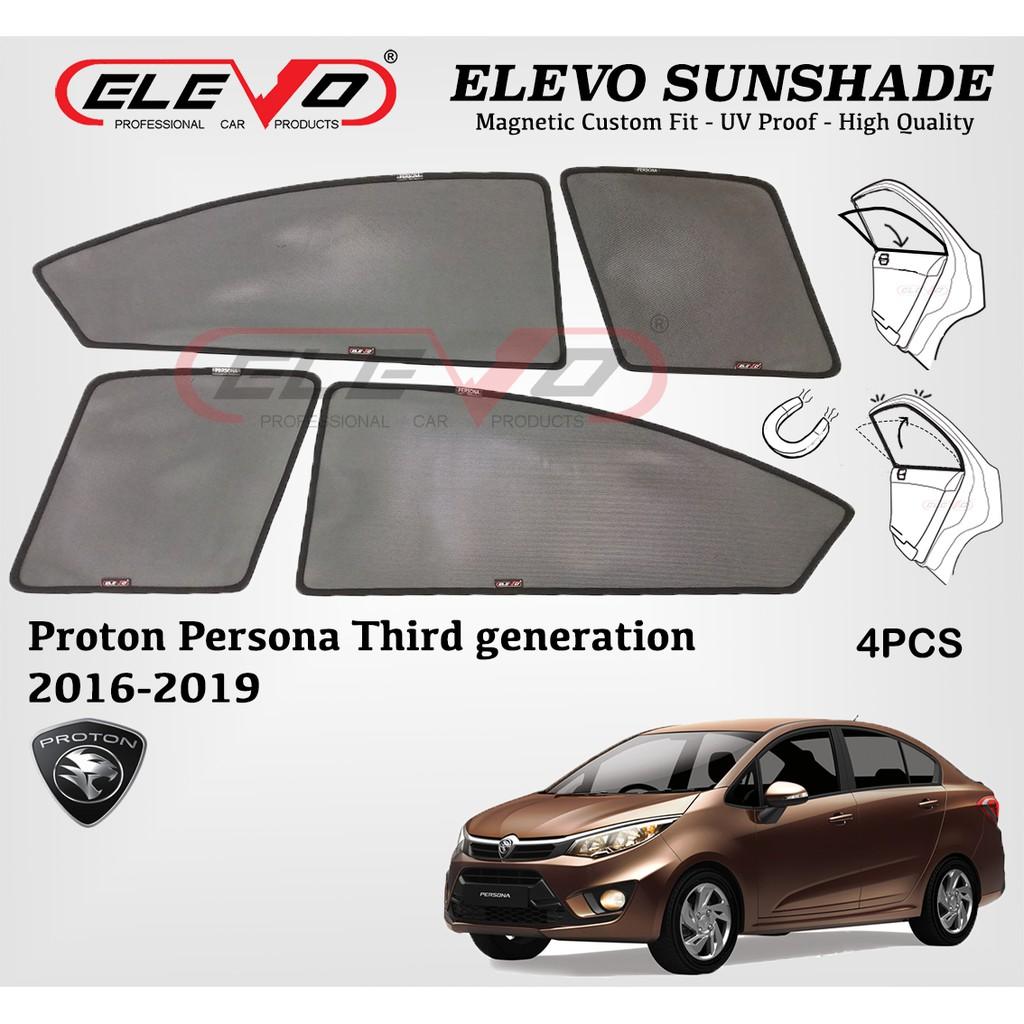 Proton Persona 2016 to 2018 ELEVO Magnetic Custom Fit Sunshade 4pcs