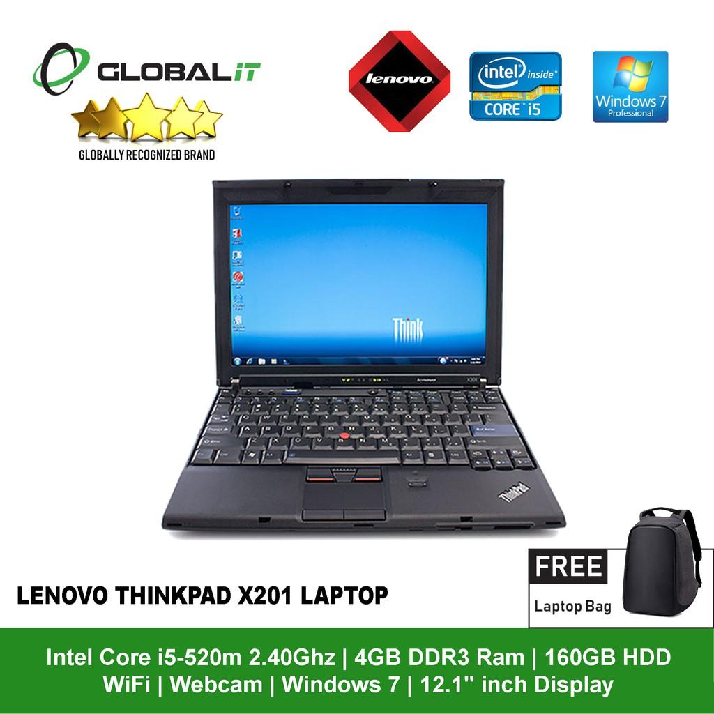 (Refurbished Notebook) Lenovo Thinkpad x201 Laptop / 12 1 inch Display /  WiFi / Webcam / Intel Core i5 / Windows 7