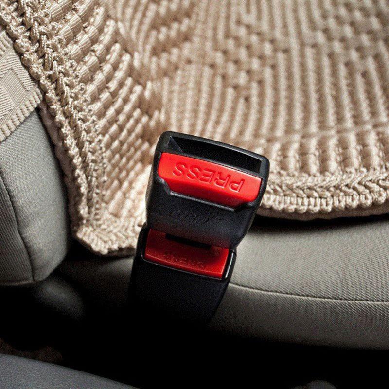 2pcs Black Car buckle cluster extend Buckle seat belt Clips Safety belt latch