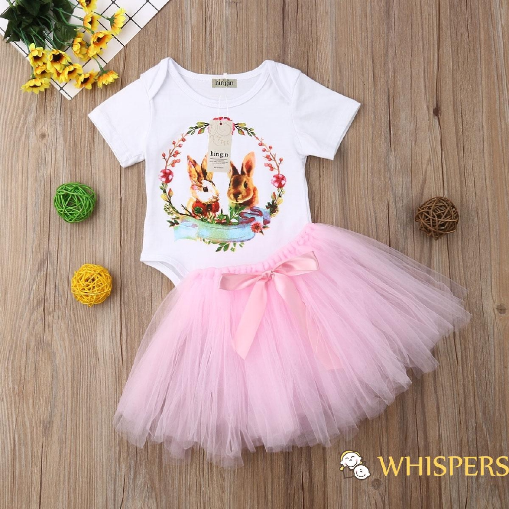 Newborn Toddler Baby Girls Romper Outfits Easter Bunny Costumes Tutu Dress