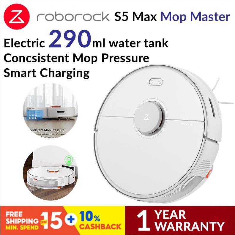 Roborock S5 Max Robotic Vacuum Cleaner - White