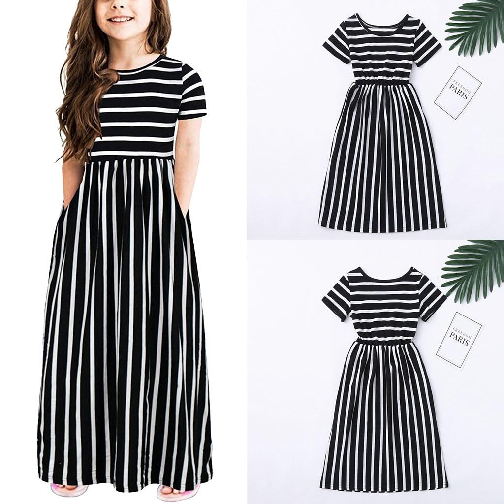belt Clothes Set 2PCS Toddler Baby Girl stripe long-sleeved dress