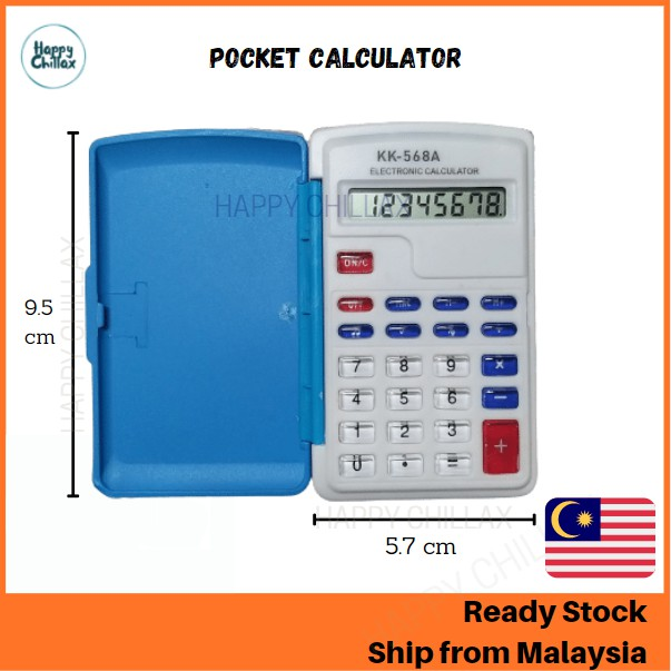 8 Digits Electronic Calculator Portable Mini with Cover and Beep Sound
