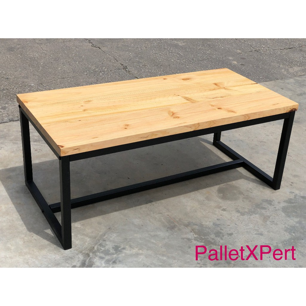 Solid Pine Wood Coffee Table Shopee Malaysia