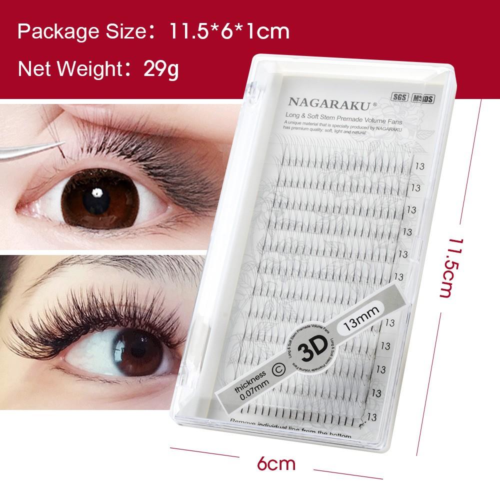 3D-6D volume eyelash makeup eyelash extensions handmade black faux mink  premium eyelash premade fan eyelash application