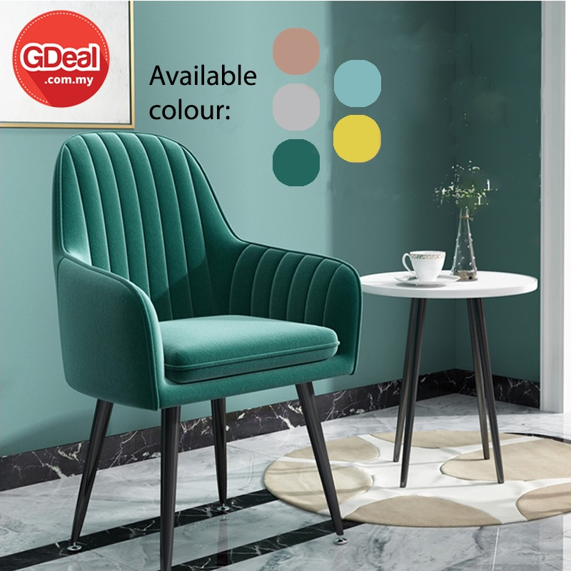 GDeal Simple Nordic Aluminium Luxury Dressing Stool Backrest Study Emas Chair With Seat Pad Dressing Chair