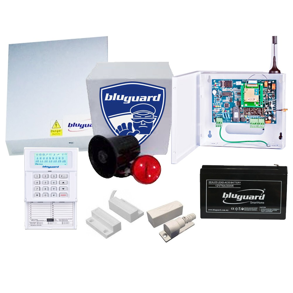 Bluguard Wireless Alarm System Price Malaysia Wire Center Circuit Signalprocessing Diagram Seekiccom Gsm Module 16 Zones Wired V16n Led Shopee Rh Com My The Best Systems Do It Yourself