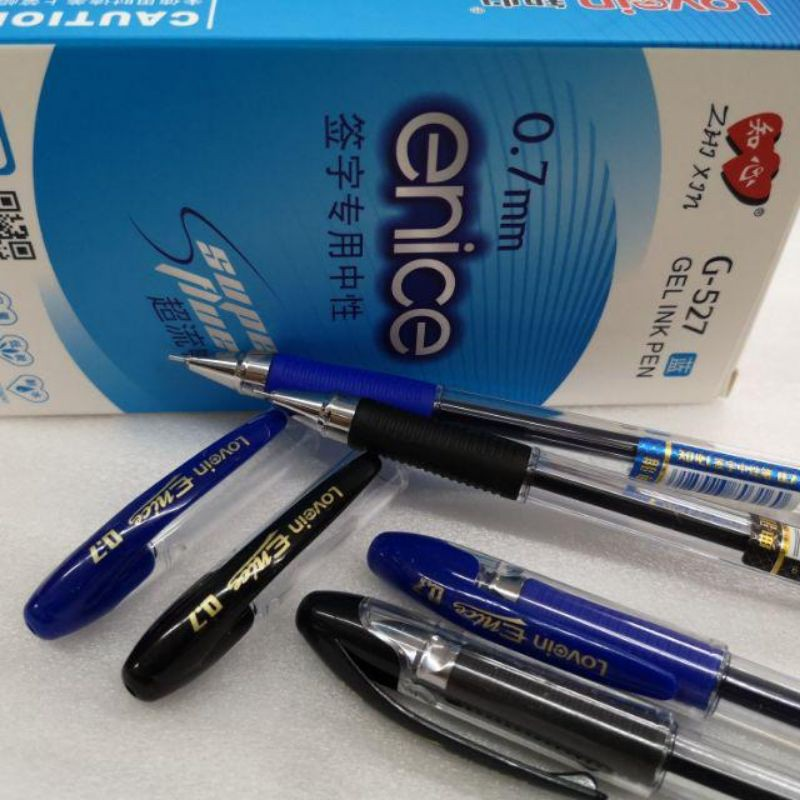 1pcs Zhi xin G-527 or tyno 1.0mm or tyno 0.7mm Pen Gel Ink Pen Alat Tulis 0.7 527 Gel Pen Signature pen 知心 bhile 4 color